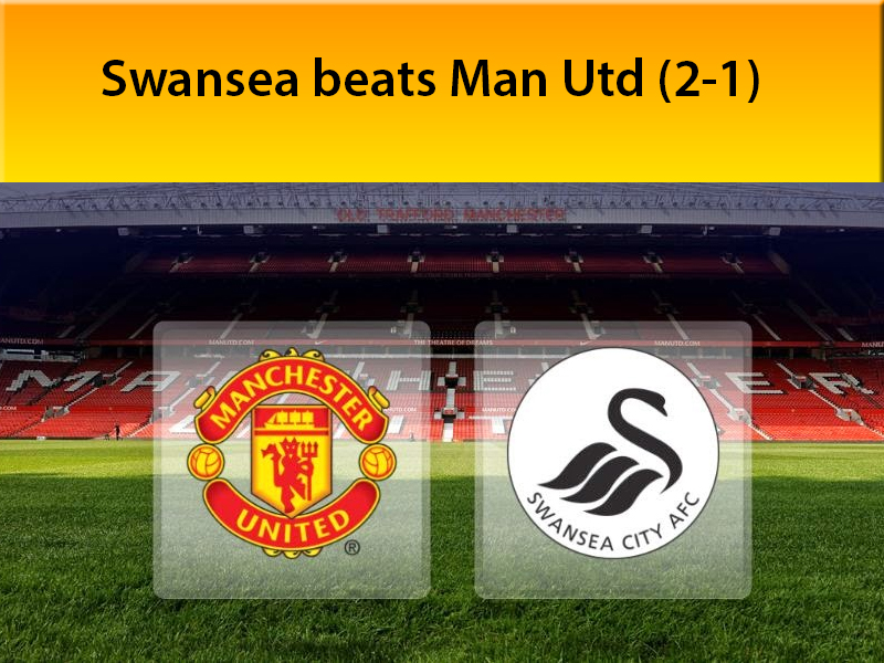Swansea beats Manchester United (2-1) in the opening match of Barclays Premier League 2014-15