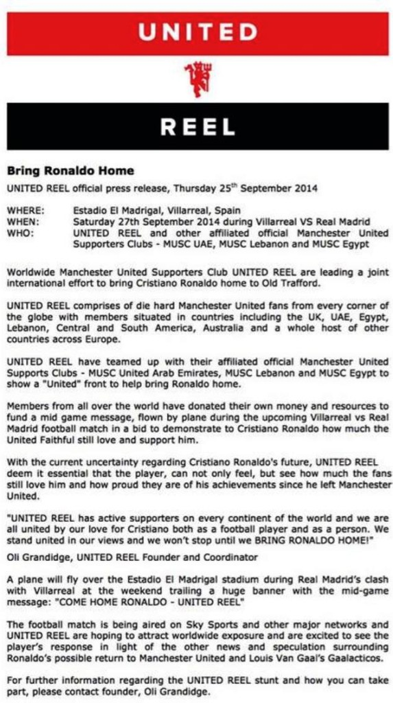 united-reel-ronaldo-press-release