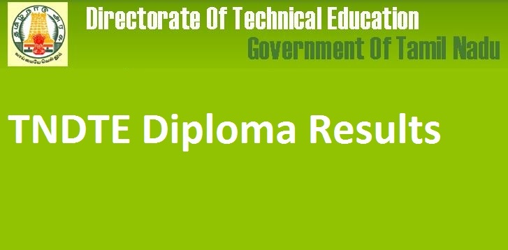 TNDTE Result 2018|TNDTE Diploma Results 2018 is out now