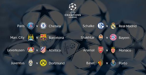 UEFA Champions League 2014-2015 knock out fixtures and teams
