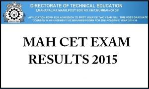 Check DTE Maharashtra MAH MBA CET 2015 Results on 25.03.2015 at 5 pm