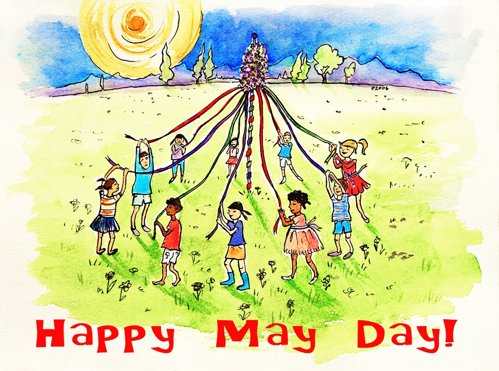 Image result for vintage happy may day