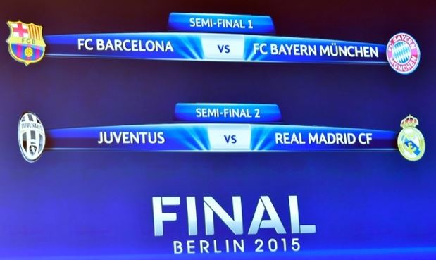 UEFA Champions League 2015 Semi Finals Draw Results|Fixtures