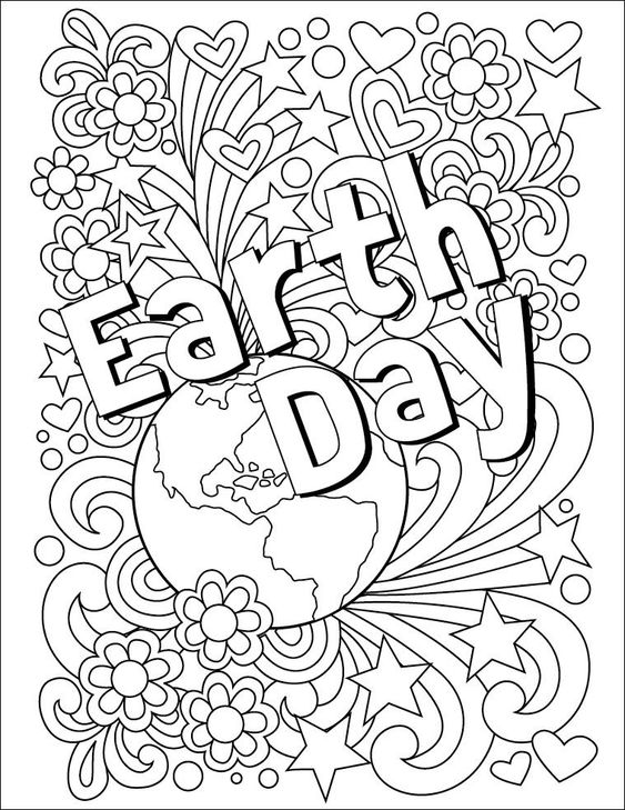 Earth Day 2018 Coloring Sheet