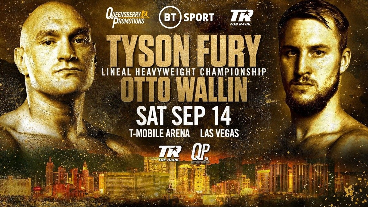 Tyson Fury vs Otto Wallin Fight Card, Venue, Time, and Details